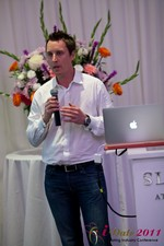 Chas McFeely (CEO of HuookChasUp.com) at iDate2011 Beverly Hills