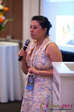 Monica Ohara (Director of Marketing at SpeedDate) at iDate2011 L.A.