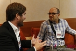Networking  at the September 10-11, 2012 Mobile and Internet Dating Industry Conference in Cologne