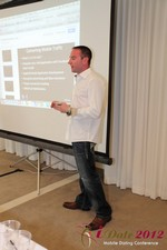 Ryan Gray (Co-Founder of IMGrind) at the Mobile Marketing Pre-Conference at iDate2012 California