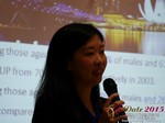 Violet Lim - CEO of Lunch Actually at the 41st iDate2015 Beijing convention
