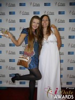 Svetlana Mucha and Elena Kolyasnikova at the 2015 iDateAwards Ceremony in Las Vegas held in Las Vegas